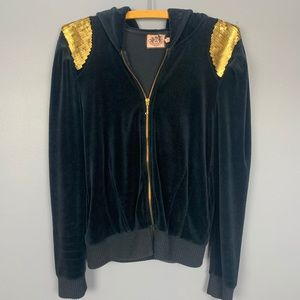 Juicy Couture Velour Jacket with Sequins